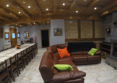 Salón comedor casa rural Iturburu